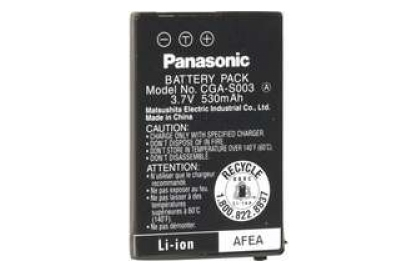 АКБ Panasonic CGA-S003 / VW-VBA05, 3.7V, 530mAh Li-Ion
