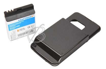 АКБ для Nokia N96 (BL-5F), 1800mAh, черный, Craftmann +2Energy