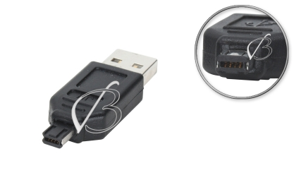 Переходник USB, 8pin (4pin + 4pin, Hirose mini-B), две выемки (double notch), для MP3-плееров, oem