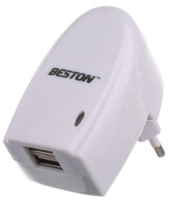 СЗУ c USB выходом, 5.0V, 2.00A, 2x USB, Beston BST -M21