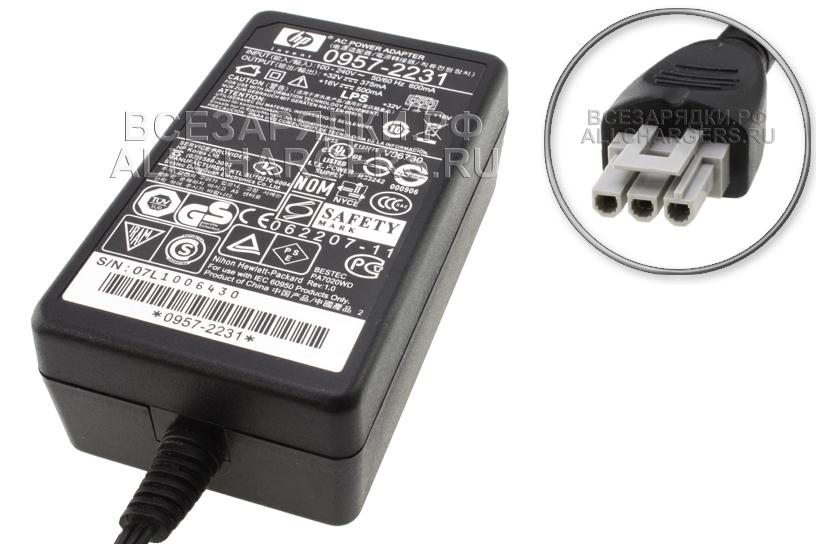 Адаптер питания сетевой (блок питания) для принтеров и МФУ Hewlett-Packard (HP) 32V / 375mA, 16V / 500mA (3 pin)