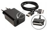 Адаптер питания сетевой (зарядное устройство, зарядка) + кабель для ASUS Eee Pad TF101, комплект (адаптер питания, кабель), оригинальный