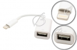Переходник (кабель) USB - Lightning (OTG), для Apple iPad4, iPad mini, oem