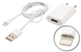 СЗУ c USB выходом, 5.0V, 1.00A, 1x USB с кабелем Lightning (iPhone5, iPod Touch5G)