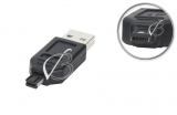 Переходник USB, mini-USB 4pin (4pin + 4pin, mini-B), две выемки (double notch), для MP3-плееров, oem
