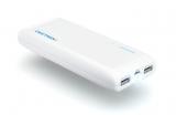 Аккумуляторная батарея (АКБ, аккумулятор) внешняя для мобильных устройств (телефонов, плееров, приставок и пр.), 5V, 2xUSB 1A, 2.1A, с фонариком, UNI 1250, 12500mAh, Craftmann