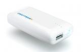Аккумуляторная батарея (АКБ, аккумулятор) внешняя для мобильных устройств (телефонов, плееров, приставок и пр.), 5V, 1A, с фонариком, UNI 500, 5000mAh, Craftmann